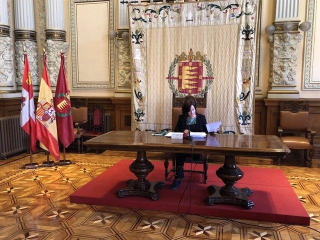 María Sánchez comparece en rueda de prensa, 28-3-18
