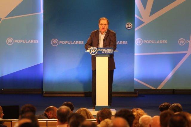 Zamora.- Herrera, durante su intervención