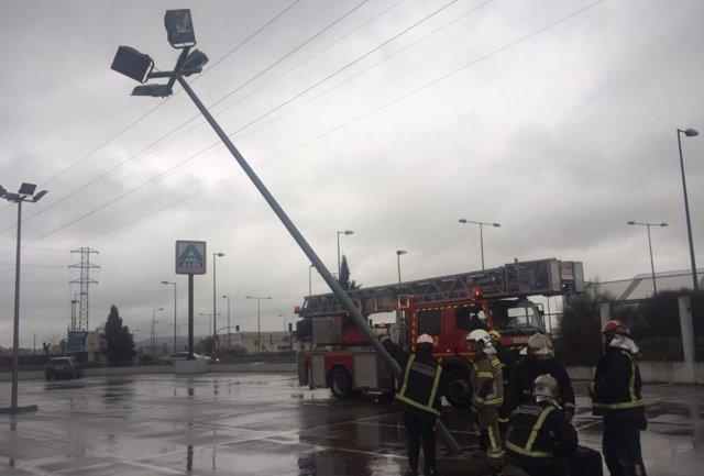 Valladolid.- Una de las intervenciones de los bomberos