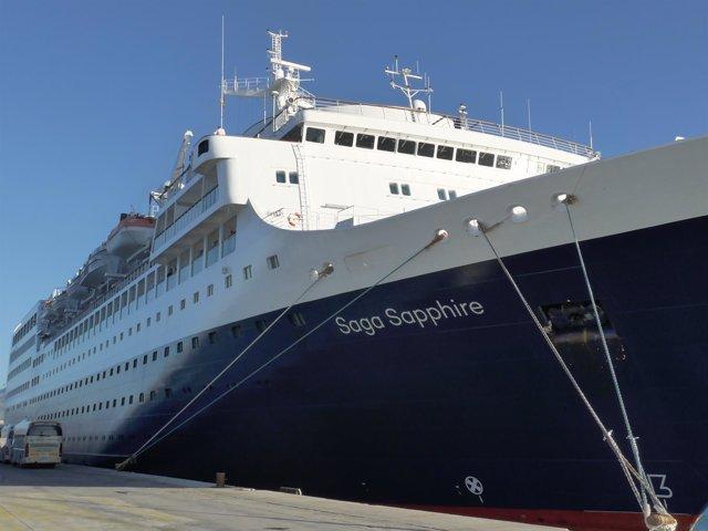 Buque Saga Sapphire, atracado en el puerto de Motril (Granada)