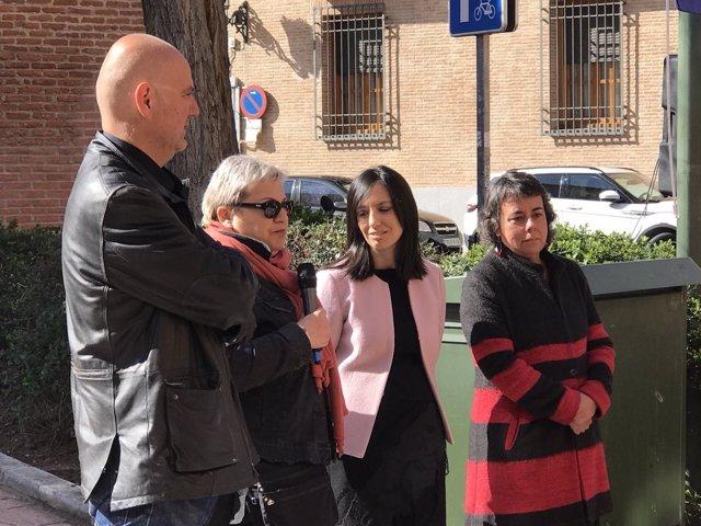 Acto de inauguración del Jardón en honor a Manuel Jiménez