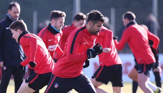 Diego Costa entrenamiento Atlético