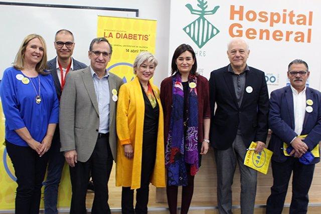 La titular de Sanitat, en la inauguración de la jornada de diabetes
