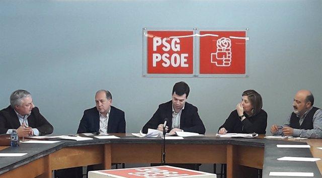 Gonzalo Caballero en la reunión interparlamentaria del PSdeG