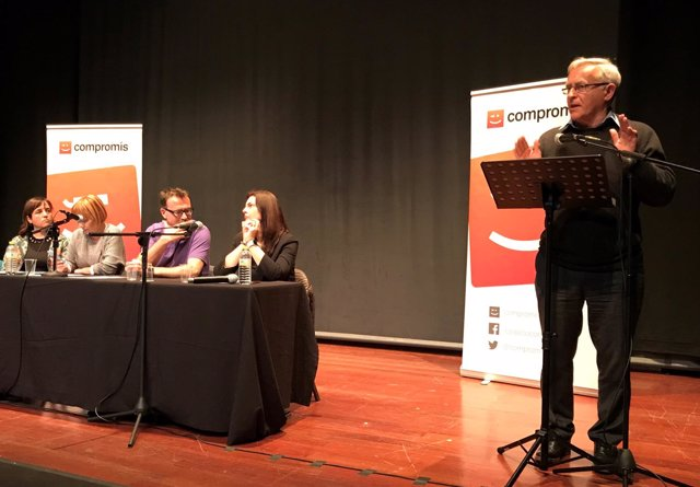 Joan Ribó en la Asamblea de Compromís per València