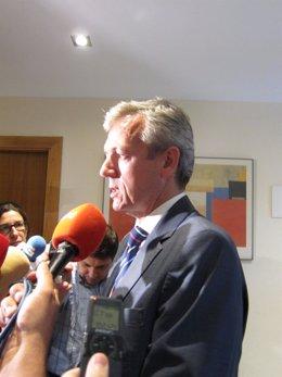 Alfonso Rueda en declaraciones a los medios
