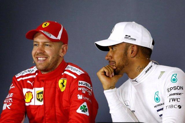 Sebastian Vettel y Lewis Hamilton en el Grand Prix de Australia