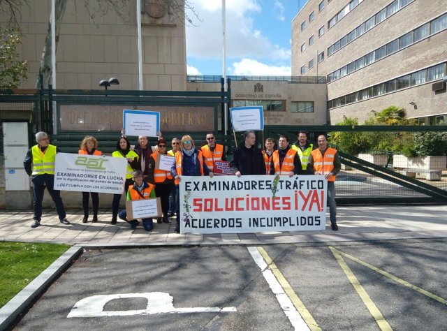 Valladolid.- Concentración de los examinadores de Castilla y León