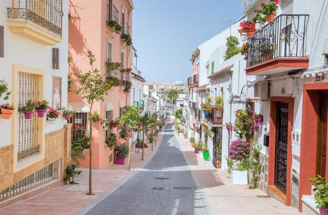 Calle Estepona calles casas pueblo paisaje