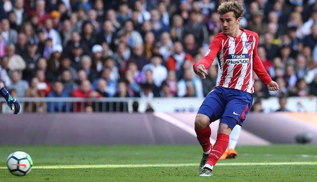 Griezmann notando el gol del Atlético