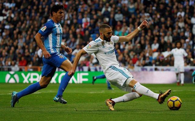 Benzema en un Real Madrid - Málaga