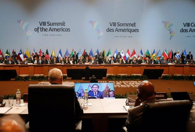 Sesión plenaria Cumbre de las Américas 2018