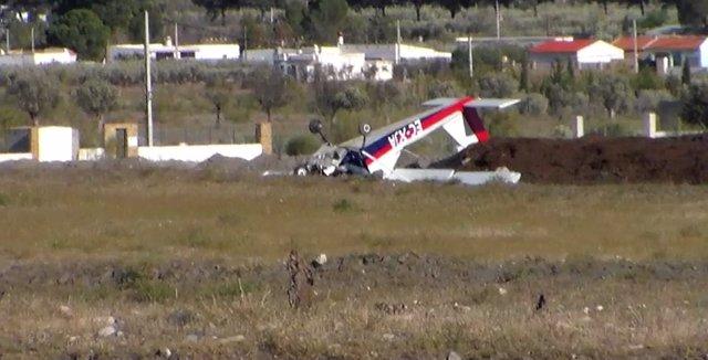 Avioneta accidentada en Tabernas (Almería)