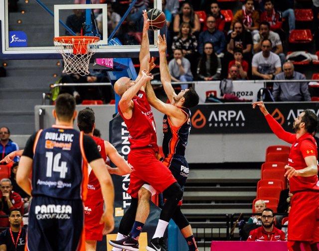 Tecnyconta Zaragoza ante Valencia Basket en Liga Endesa
