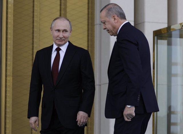Erdogan y Putin en Ankara