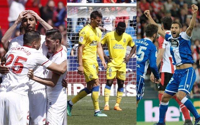 Sevilla, Las Palmas y Deportivo