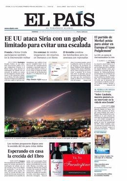 Primera página El País del 15 de abril de 2018