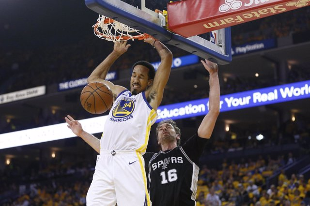 Shaun Livingston ante Pau Gasol en playoffs de la NBA - Warriors- Spurs