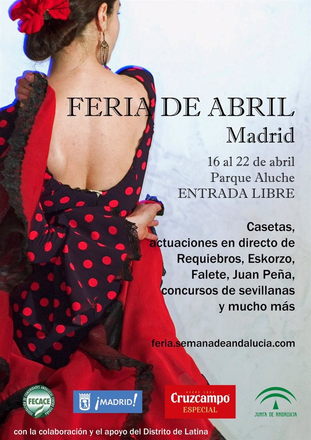 La I Feria de abril madrileña arranca este lunes con gastronomía andaluza y diversas actuaciones musicales