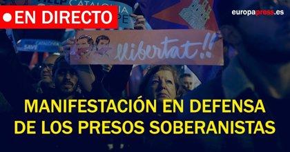 Manifestación en Barcelona por los presos independentistas | Directo: todas las reacciones políticas