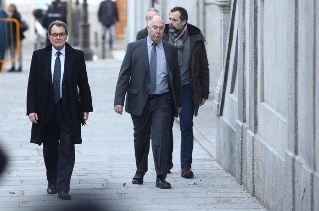 Artur Mas llega al Supremo para declarar por el procés/ARCHIVO