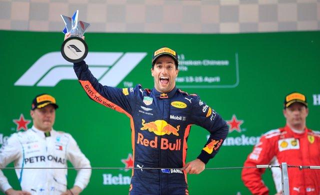Daniel Ricciardo Valtteri Bottas Kimi Raikkonen China