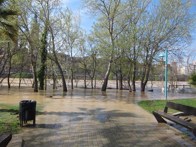 Crecida del Ebro en Zaragoza.