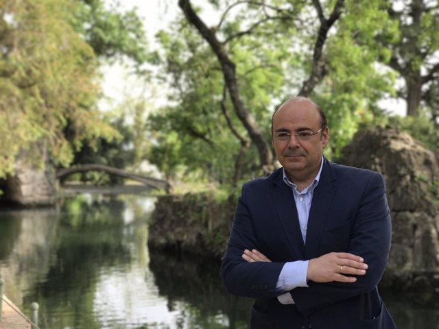 El presidente del PP de Granada y candidato a la Alcaldía, Sebastián Pérez.