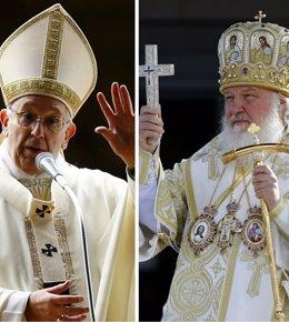 El Papa Francisco y el Patriarca Kirill de Moscú