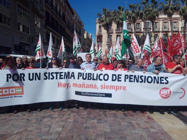 Pensiones CCOO UGT reclaman sostenibilidad y sistema publico pensionistas