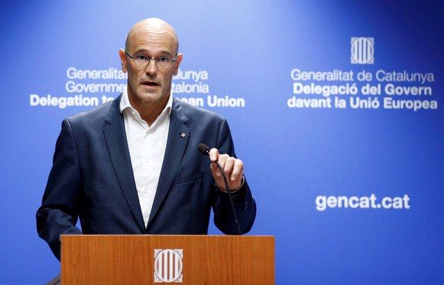 El consejero de Exteriores de la Generalitat, Raül Romeva