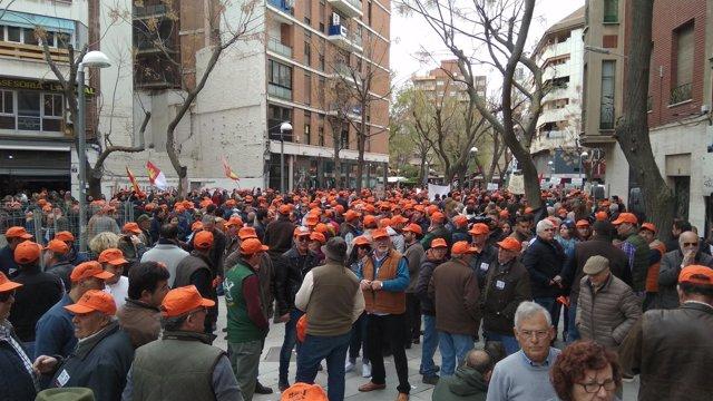 Manifestación convocada por los cazadores de Castilla-La Mancha