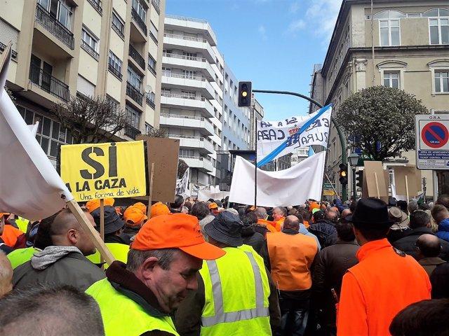 Concentración da Federación Galega de Caza