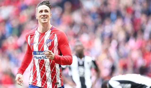 El delantero del Atlético de Madrid Fernando Torres