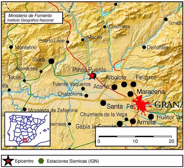 Registrados una decena de terremotos en la provincia de Granada