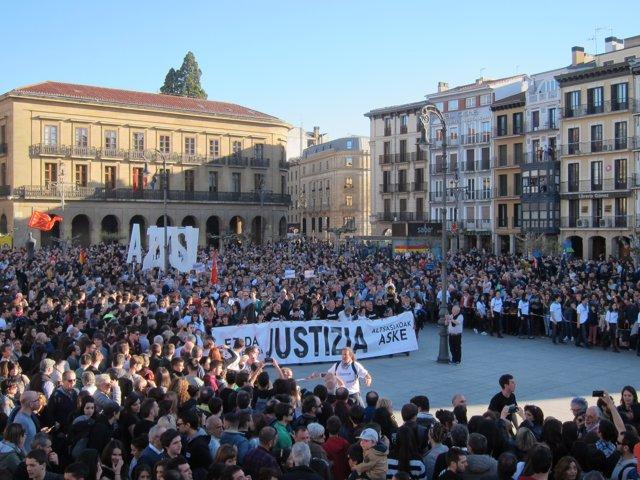 """Manifestació a Pamplona per demanar """"justícia"""" en el caso Altsasu"""