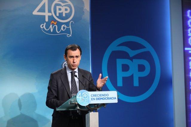 Roda de premsa de Fernando Martínez-Maillo a la seu del PP