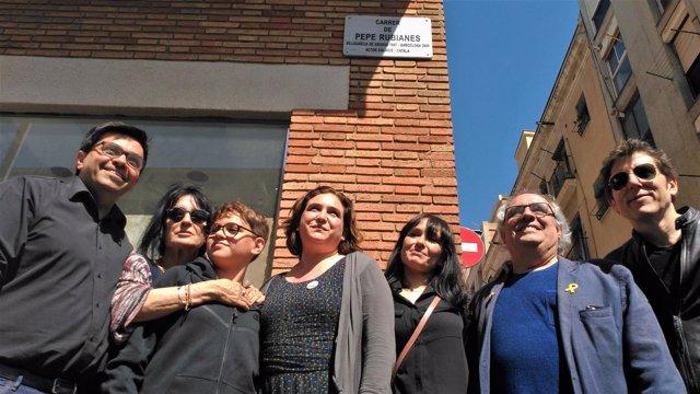 Inauguración de la calle Pepe Rubianes, en Barcelona