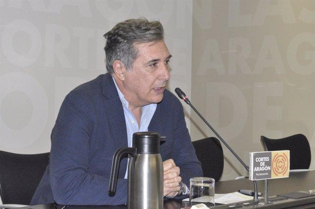 El diputado del PP en las Cortes de Aragón, Ricardo Oliván