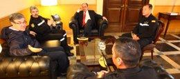 El jefe de la UME se reúne con el presidente de Ar