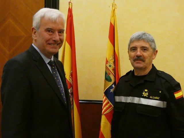 El teniente general de la UME visita al delegado del Gobierno en Aragón
