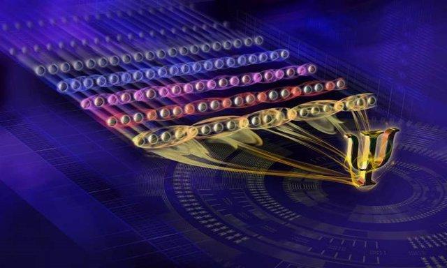 Imagen conceptual del nuevo estado cuántico exótico generado