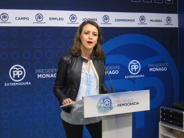 La portavoz del PP de Extremadura, Gema Cortés