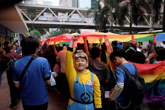 Foto de archivo del Orgullo Gay en Hong Kong.