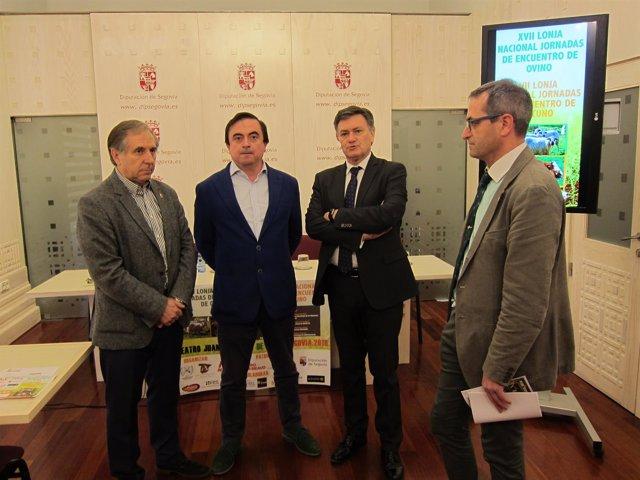 Pedro Sanz, Carlos González, Francisco Vázquez y Jaime Pérez.