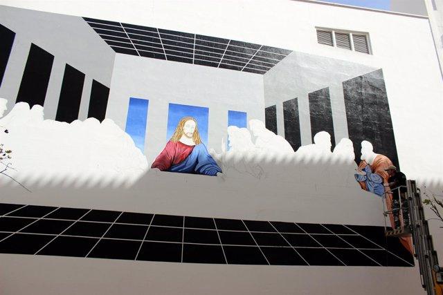 Estepona incorpora la ultima cena a la ruta de murales