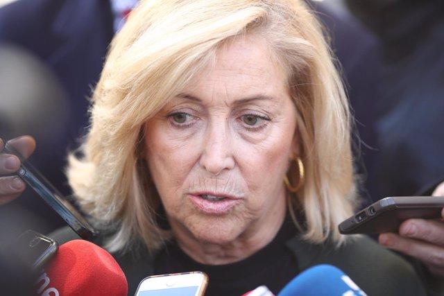 Concepción Dancausa sale del juzgado tras declarar por el 'caso Mercamadrid'