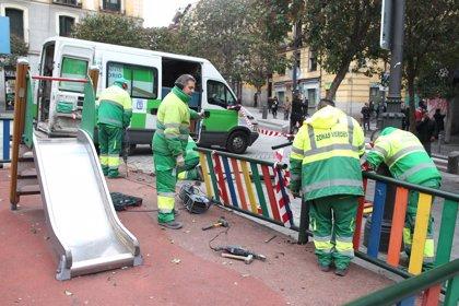 Los destrozos de los bienes públicos en los incidentes de Lavapiés ascienden a 50.000 euros