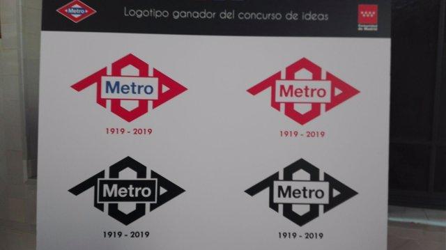 Logotipo ganador del centenario de Metro