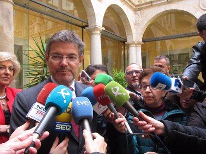 """Rafael Catalá considera que las declaraciones en el TS son """"una fase más"""" y una muestra de la independencia judicial"""